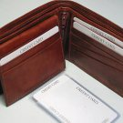 Hand Crafted Fine Leather Bifold Men's Man Wallet Case