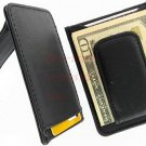 Men's Leather Money Clip Wallet Credit Card Cash Holder 910