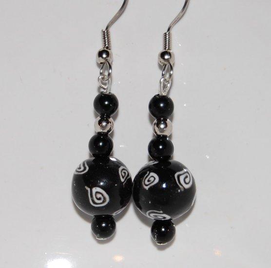 Black & White Earring