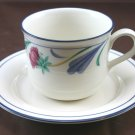 Lenox Poppies on Blue, for the blue, Flat Cup & Saucer Set
