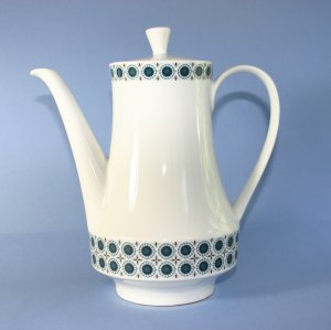 Winterling China Kirchenlamitz Bavaria Blue Pinwheels Large Coffee Pot
