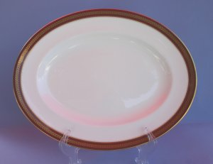 "Coalport RED WHEAT 14"" Oval Serving Platter"