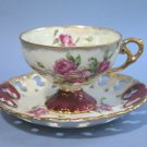 Napco China Hand Painted Lusterware C-436 Cup & Saucer Set