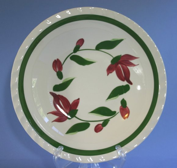 SPI - Southern Potteries - Blue Ridge Hand Painted #4324 RED RING Round Vegetable Bowl