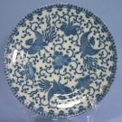 "Japan blue & white Phoenix Bird/Flying Turkey/Howo 7"" Salad/Dessert Plates"
