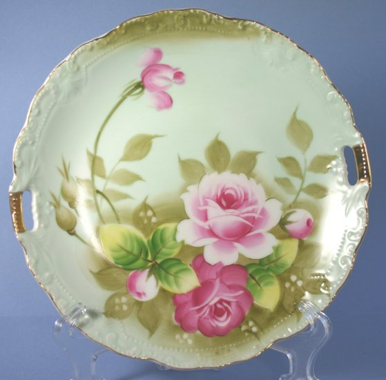 Vintage Lefton China Hand Painted Heritage Green 719 9
