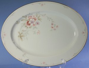 "Noritake SHREWSBURY 3490 13"" Oval Serving Platter"