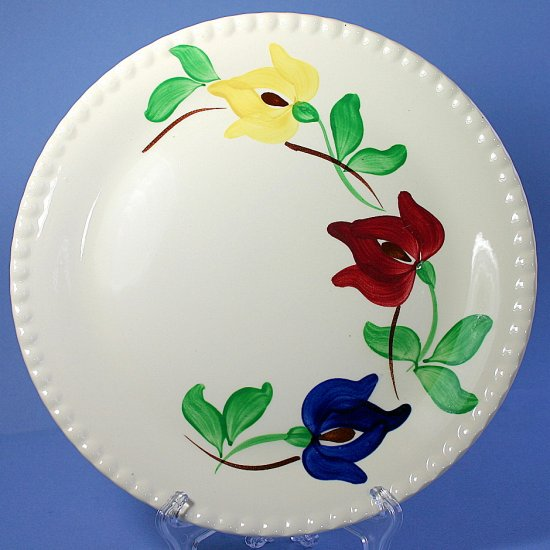 "SPI - Southern Potteries - Blue Ridge Hand Painted #3988 CARNIVAL 9"" Luncheon Plates"