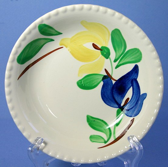 "SPI - Southern Potteries - Blue Ridge Hand Painted #3988 CARNIVAL 5"" Fruit - Dessert (Sauce) Bowl"