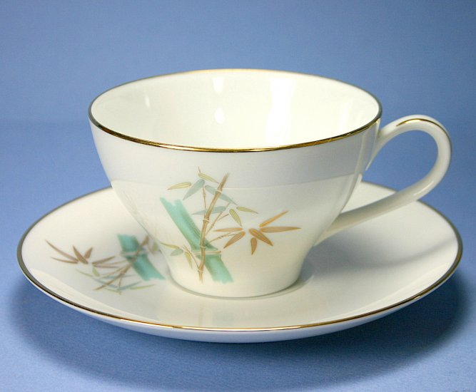 Noritake Oriental Flat Cup and Saucer Set