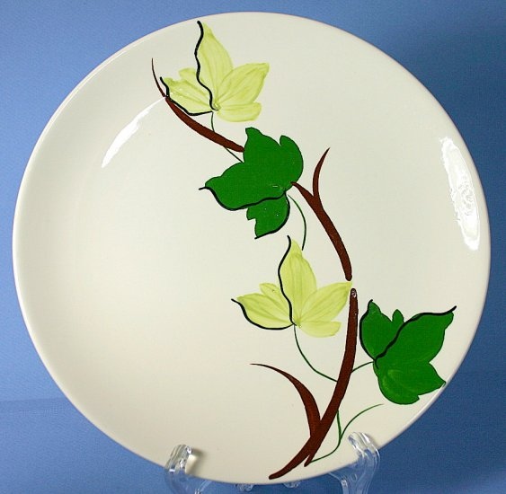 """SPI - Southern Potteries - Blue Ridge Hand Painted #4158 PLANTATION IVY 8"""" Luncheon Plates"""