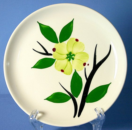 """Stetson Pottery DIXIE DOGWOOD 6"""" Bread and Butter Plate"""
