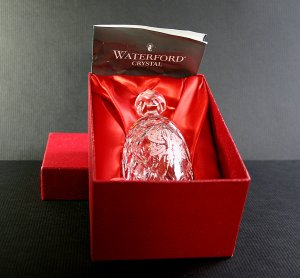 Waterford Crystal 5 Gold Rings - Twelve Days Of Christmas Crystal Bell Boxed