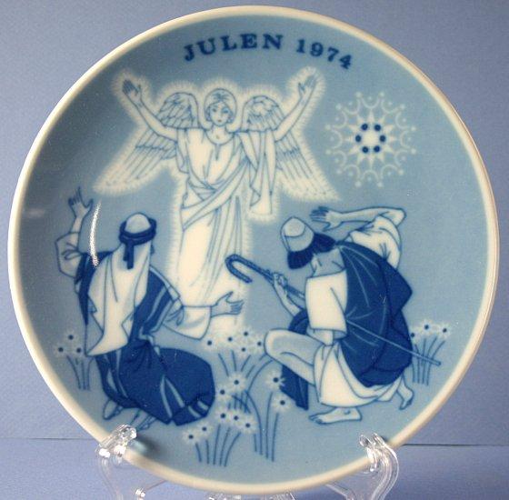 Porsgrund (Norway) 1974 Christmas Plate The Shepherds