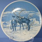 "Porsgrund (Norway) Laplander and a Reindeer 7"" Plate"