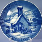 Bareuther & Co 1976 Christmas Plate Chapel In The Mountains