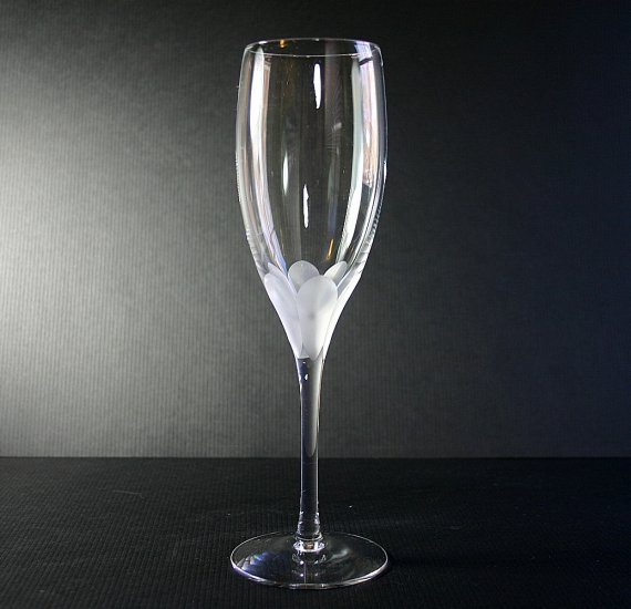 """Lenox Crystal ATRIUM - CLEAR 8"""" Fluted Champagne Glass"""