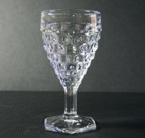 "Fostoria American Clear Stem #2056 4"" Wine Glass"