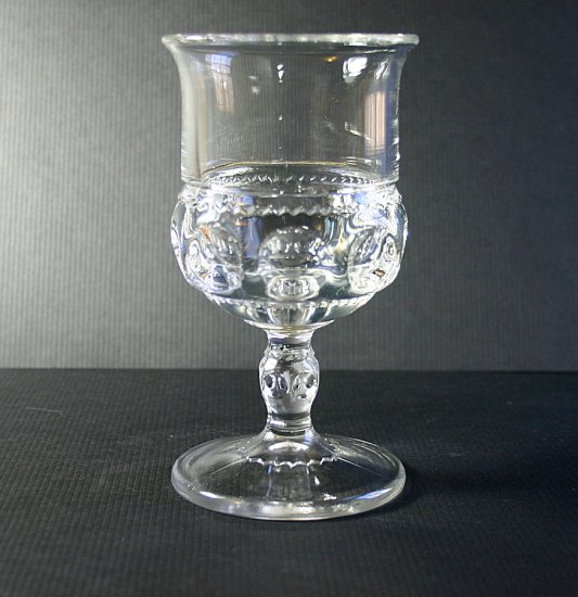 Tiffin - Franciscan King's Crown Clear Water Goblet