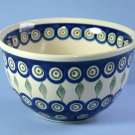 "Boleslawiec Pottery Peacock 6"" Deep Bowl"