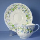 Shelley Harebell (Oleander) Cup and Saucer Set (Flat)