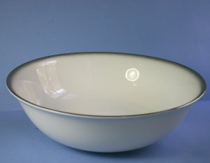 "Sango 6175 Grey Mist 9"" Round Vegetable Bowl"