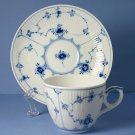 Royal Copenhagen Blue Fluted - Plain Cup and Saucer (Flat) in No. 79 design