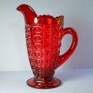 Viking Glass Yesteryear Bulls Eye Ruby Red 16 Oz Pitcher