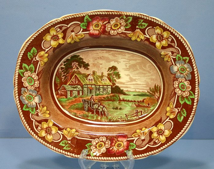 Coalport Pastoral Brown (Not Embossed) Oval Vegetable Bowl
