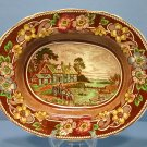 "Coalport Pastoral - Brown 9"" Oval Vegetable Bowl"