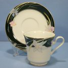 Mikasa Charisma - Black Cup and Saucer Set (Footed)