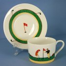 Christopher Stuart Fairway Flat Cup & Saucer Set