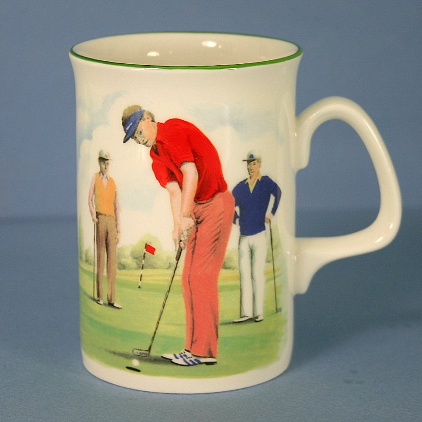 Duchess Golfers Cappuccino Mug - Putting