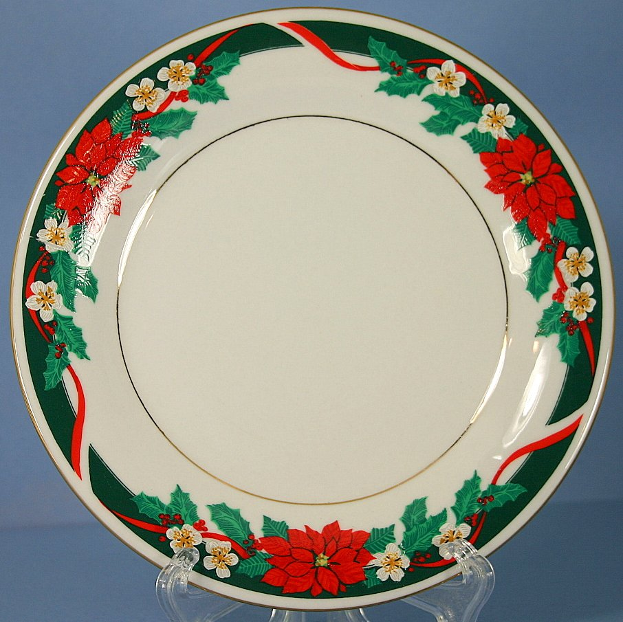 Tienshan Deck The Halls (Verge) Salad Plate