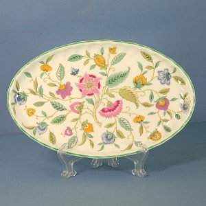 "Minton China Haddon Hall 8"" Oval Tray"