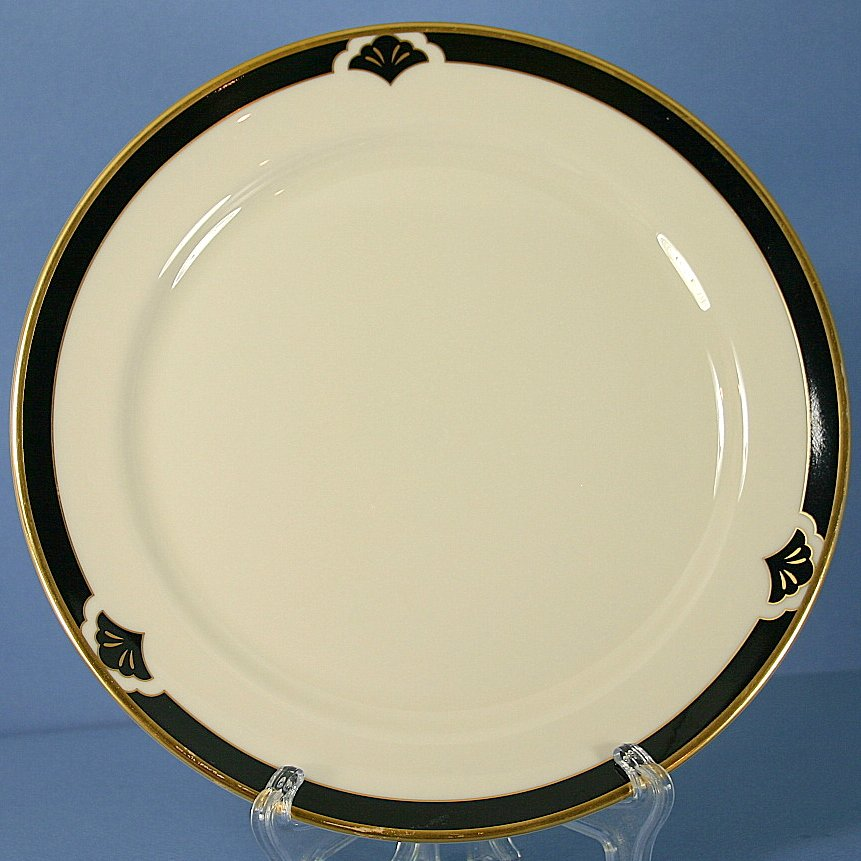 "Pickard Ensemble Black 8"" Salad Accent Plate"