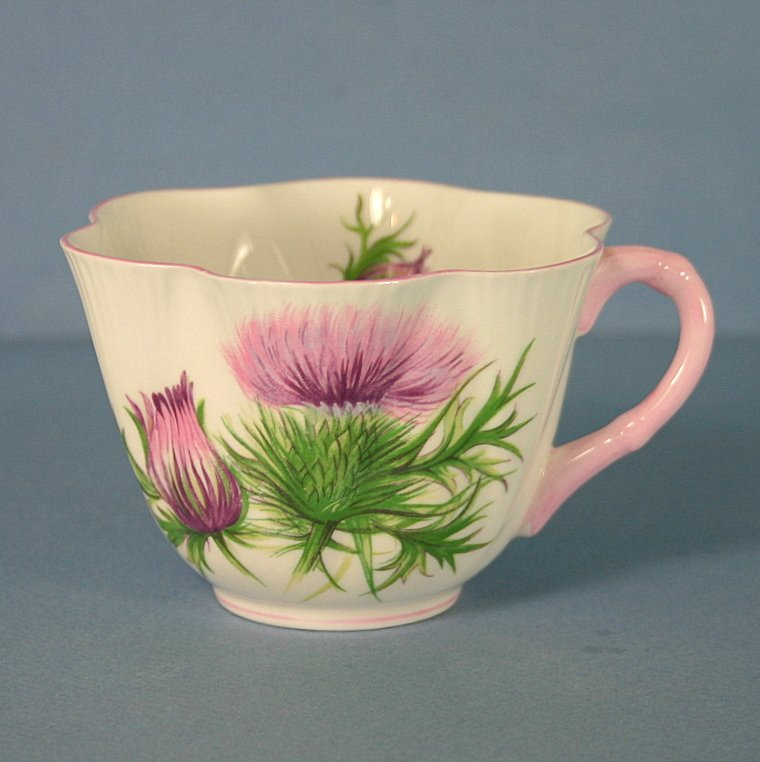 Shelley Thistle (Dainty,Pink,Pink Trim) Cup Only (Flat)