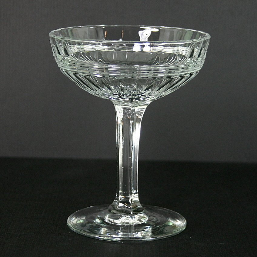 Heisey Banded Flute Clear Champagne/Tall Sherbet