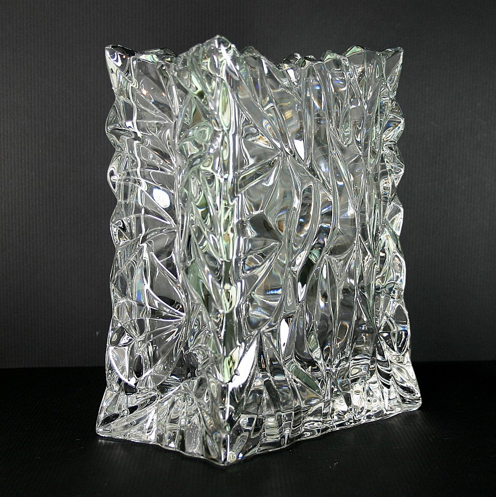 rosenthal crystal studio line bag 8 flower vase