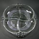 Duncan & Miller Teardrop Clear 4 Part Relish Dish