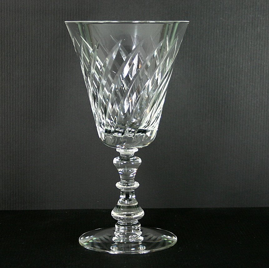 Fostoria Ballet Clear (Stem #6036, Cut #828) Water Goblet