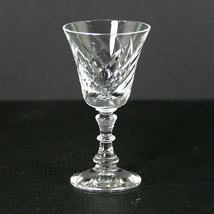 Fostoria Ballet Clear (Stem #6036, Cut #828) Cordial Glass