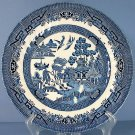 Royal Wessex Blue Willow (Swirl Rim, England) 10&quot; Dinner Plate
