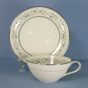 Noritake Marlene Flat Cup and Saucer Set