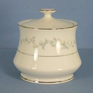Japan China Forget Me Not - Blue Sugar Bowl &amp; Lid