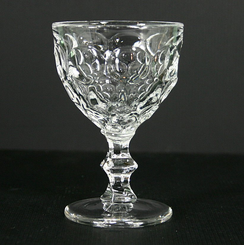 Heisey Whirlpool Clear Wine Glass