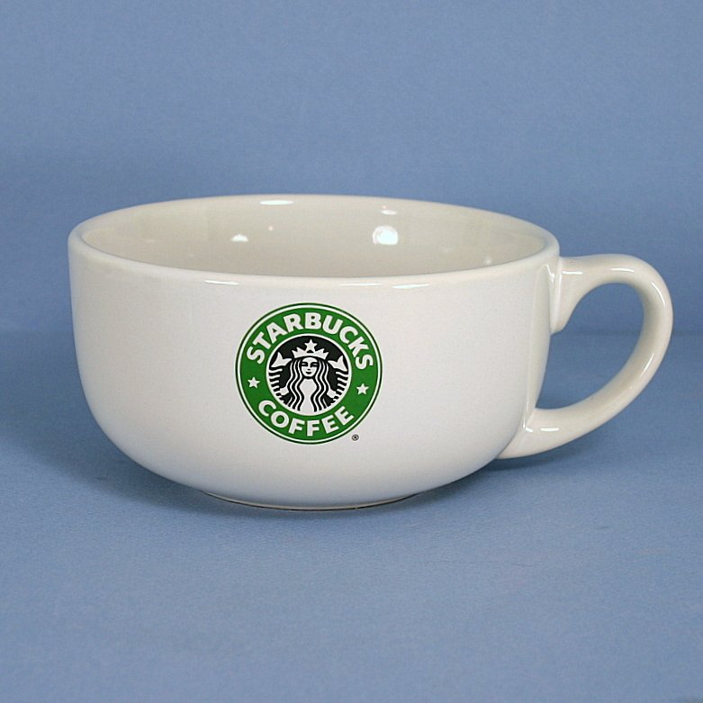 Starbucks Oversize Coffee Mug Mermaid Siren Logo Soup Bowl 18 Oz