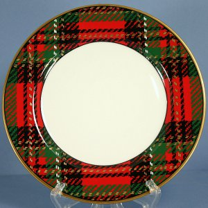 Fitz & Floyd Country Plaid Salad Plate