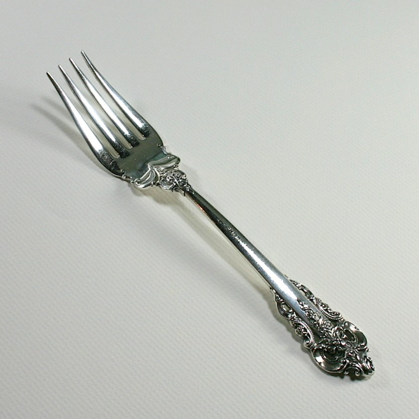 Wallace Grande Baroque Sterling Cold Meat Fork