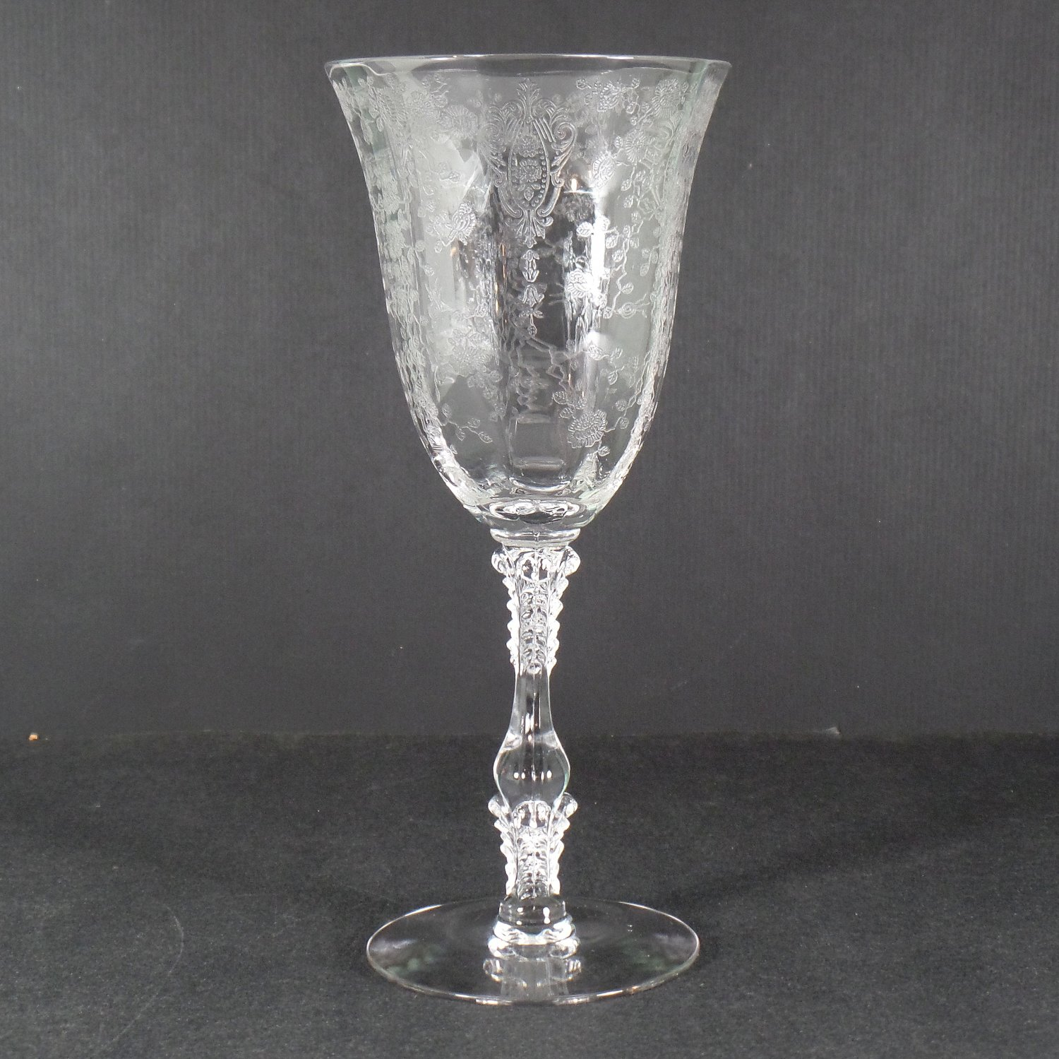 Cambridge Rose Point Clear (Stem 3121) Water Goblet